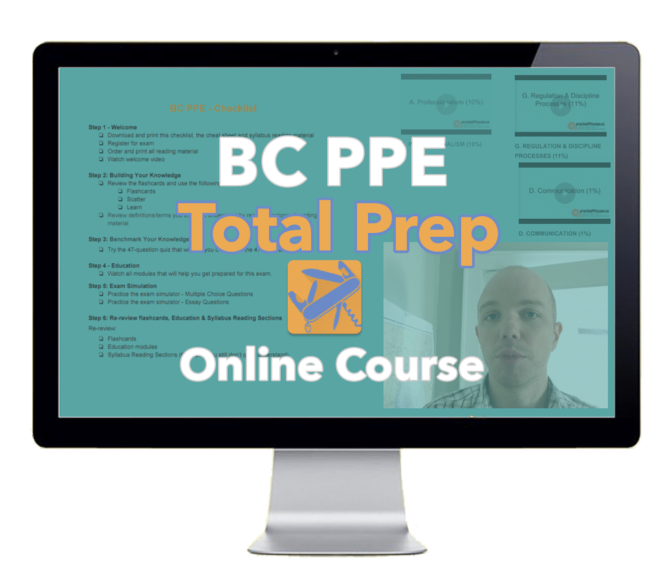 """BC PPE """"Total Prep"""" Online Course"""