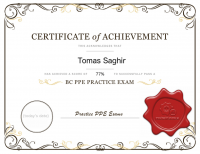 We'll keep you motivated with printable certificates for each successful practice exam you try.